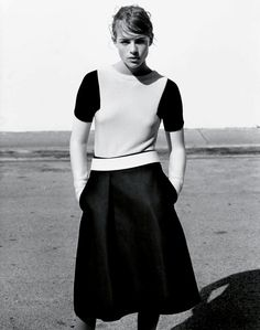 "diafano:    ""In Glorious Mono"" -Rosie Tapner by Alasdair McLellan for UK Vogue March 2013"