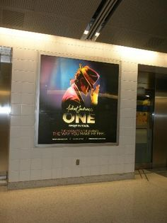 Michael Jackson ONE by Cirque du Soleil: Advertisement at the Airport of Las Vegas.