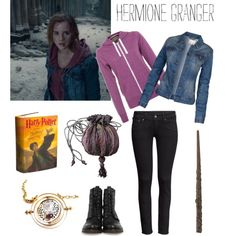 """""""Hermione Granger"""" by teeyoung on Polyvore Harry Potter Style, Harry Potter Outfits, Hermione Granger Outfits, Hannah New, Movie Inspired Outfits, Ginny Weasley, Fandom Fashion, Clothing Websites, Gingerbread Man"""