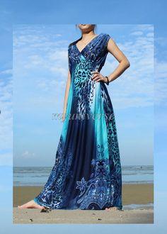 Plus Sizes Clothing Blue Maxi Dress Women Long Dress Prom Dress Bridesmaid Dress Leopard