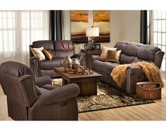 Sofas-Walden Reclining Sofa-Go gray with gunmetal and nickel