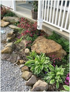 42 Inspiring Rock Garden Landscaping Ideas - Your Rock Garden Landscape. Not every landscape is perfect and having a rock garden can help in many of those areas. You might have an area that is ju. Landscaping With Rocks, Front Yard Landscaping, Backyard Landscaping, Landscaping Ideas, Backyard Ideas, Natural Landscaping, Luxury Landscaping, Landscaping Software, Rock Garden Design