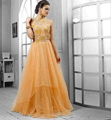 LIGHT YELLOW GOWN FOR WEDDINGS VDPAK1048