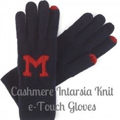 NEW! C. Wonder Cashmere Touch Gloves - Navy & Red NEW! C. Wonder cashmere intarsia knit 'M' monogram e-touch gloves in Navy and Red. The red finger tip(s) are capacitative so they work on your smartphones! What a beautiful and classy holiday gift for your fashion-savvy friend or yourself! This company no longer exists, so this is your only chance to get these! I am a 5 star seller and I ship fast! Thanks for looking! C. Wonder Accessories Gloves & Mittens