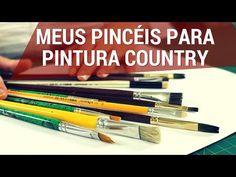 QUAIS PINCÉIS EU UTILIZO? | Dicas de Pintura Country | TÂNIA MARQUATO