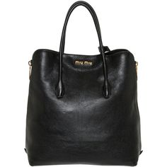 Miu Miu Leather Side-zip Tote (4 680 PLN) ❤ liked on Polyvore featuring bags, handbags, tote bags, sacs, tote purse, miu miu tote, handbags totes, genuine leather tote and zippered tote bag