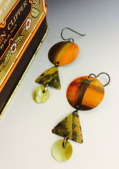 Amazing Abstract look earrings  These wonderful by SusanParrishArt