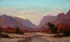 Artwork of Tinus de Jongh exhibited at Robertson Art Gallery. Original art of more than 60 top South African Artists - Since Landscape Artwork, Landscape Design, South African Artists, Mountain Paintings, Old Master, Mountain Landscape, Masters, Original Art, Art Gallery