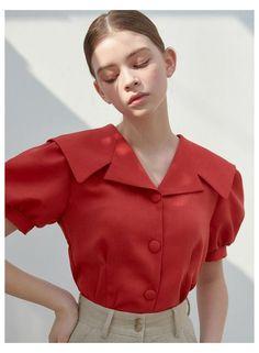Stylish Dress Designs, Stylish Dresses, Fashion Dresses, Collar Designs, Blouse Designs, Sailor Collar, Looks Style, Mode Inspiration, Collar Blouse
