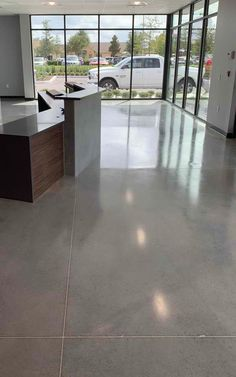 Polished Concrete for Commercial Office. Polished Concrete, Commercial, Industrial, Home Decor, Industrial Music, Interior Design, Home Interior Design, Home Decoration, Decoration Home