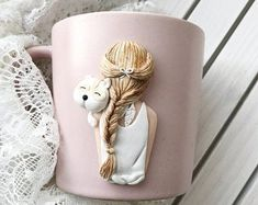 Сoffee lovers gift Coffee cup Coffee mug Coffee jar Kitchen decor Polymer clay cup Polymer clay jar Candy jar Polymer clay spoon Tea cup Polymer Clay Dolls, Polymer Clay Charms, Diy Clay, Clay Crafts, Coffee Cup Crafts, Bunny Painting, Clay Mugs, Clay Tutorials, Gifts For Coworkers