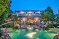 French Baroque Beverly Hills Chateau 1 - Luxatic - Luxury Homes Dream Mansion, Dream Houses, My Pool, Dream Pools, Expensive Houses, Exterior, Cool Pools, Pool Houses, Big Houses