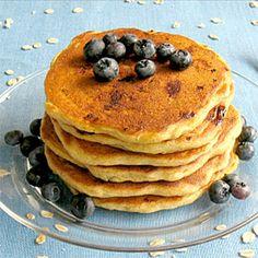 Buttermilk Blueberry Oat Pancakes