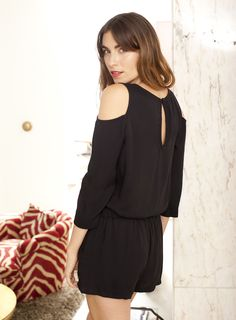 This effortless romper is both stylish and sophisticated.