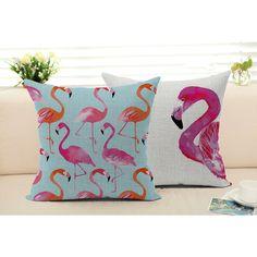 Fronha capa de almofada flamingo animal linho / algodão sofá cadeira de assento lance fronha 18 x 18 polegadas almofadas decorativas