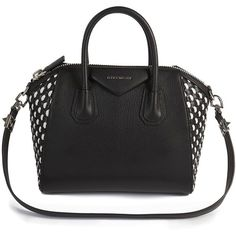 Givenchy Antigona Small Woven Leather Satchel ($3,140) ❤ liked on Polyvore featuring bags, handbags, apparel & accessories, leather satchel purse, genuine leather satchel handbags, genuine leather handbags, shoulder strap purses and leather handbags