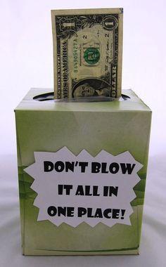 Tissue Box Money Roll