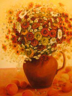 Flowers (73 cm x 60 cm) Author Joanna Brzostowska. Acrylpaint.