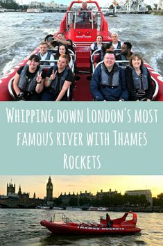 Whip your way fown the river in the Thames Rockets, a siteseeing speedboat trip that takes in all the sights at top speed! London Bridge, London City, Down The River, The Shard, Houses Of Parliament, Things To Do In London, London Eye, Speed Boats, City Buildings