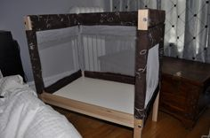 diy co-sleeper with ikea changing table