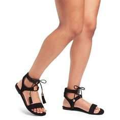 Women's Mavis Gladiator Sandals Merona - Taupe (Brown) 9.5