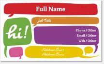 communication conversation bubble Premium Business Cards