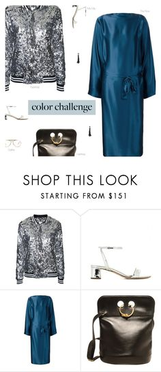 """""""Color Challenge"""" by amberelb ❤ liked on Polyvore featuring Topshop, Miu Miu, The Row, Hermès and CÉLINE"""