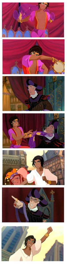 Festival of Fools genderbend Esmeralda and Frollo interactions by esmeraldo