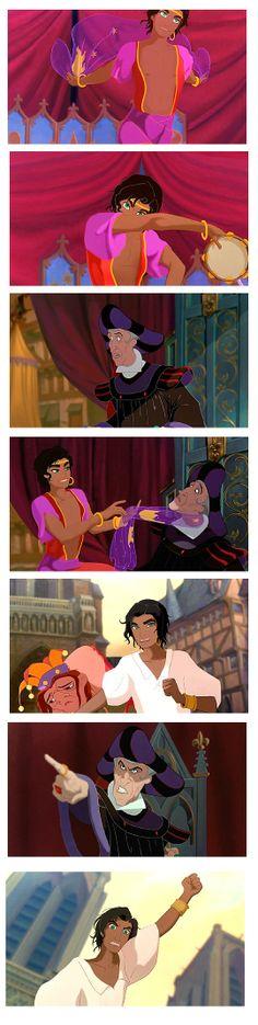 Festival of Fools genderbend Esmeralda and Frollo interactions by esmeraldo