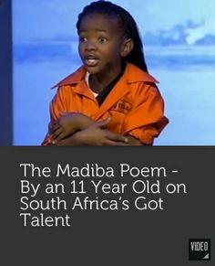 The Madiba Poem - Nelson Mandela Got Talent Videos, Nelson Mandela, Grade 1, Consciousness, Poems, Magic, Inspiration, Black, Biblical Inspiration