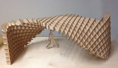 waffle structure study by students at Aalto University Wood Program source Parametric Architecture, Pavilion Architecture, Brick Architecture, Parametric Design, Education Architecture, Concept Architecture, Interior Architecture, Architecture Diagrams, Architecture Portfolio