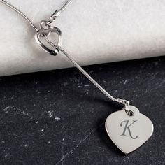 Monogrammed Double Heart Necklace (Cathys Concepts N1027S) | Buy at Wedding Favors Unlimited (http://www.weddingfavorsunlimited.com/monogrammed_double_heart_necklace.html).