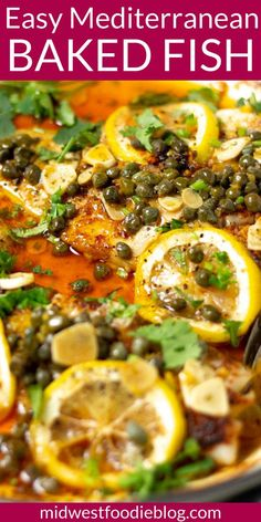This healthy Mediterranean dinner takes just 20 minutes from start to finish and is made with just 8 ingredients! It almost sounds too good to be true doesn't it? Well, it's not. It's just another quick and easy dinner that your family is going to LOVE! Easy Mediterranean Diet Recipes, Mediterranean Dishes, Cod Fish Recipes, Salmon Recipes, White Fish Recipes, Chicken Recipes, Fish Dinner, Seafood Dinner, Cooking Recipes
