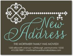Precious New Address - Moving Announcement Postcards in Navy or Dark Gray New Address Announcement, New House Announcement, Birth Announcement Photos, Moving Announcements, Unique Invitations, Digital Invitations, Shower Invitations, Custom Cards, Custom Stickers