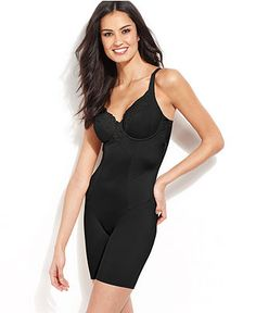Maidenform Firm Control Vintage Chic Long Leg Body Shaper 2045 - Lingerie - Women - Macy's