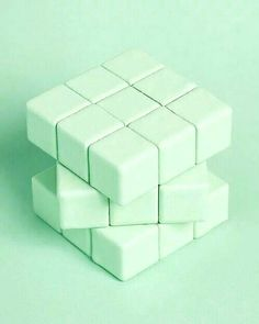 The only Rubik's Cube that I can win - Green aesthetic - Mint