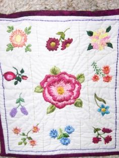 Dimensional embroidery piece from a class by Martha Offut....at the Quilt Camp at Cedar Lakes.