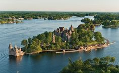 George Boldt built the six-story, 120-room Boldt Castle in New York's Alexandria Bay as a testament to his love for his wife, who tragically died before it was completed. (From: Photos: 12 Amazing Castles You Won't Believe Are in America).