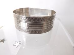 Great baby gift Hallmarked Silver Napkin Ring  CuriosAnCollectibles