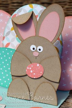 pop up Easter bunny & egg card using Stampin Up oval dies & punches (list of punches in post) for Just Add Ink challenge 255. By Di Barnes #colourmehappy