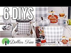 🍁Hello lovely friends In today's video I am so excited to share with you 6 DIY Dollar Tree fall decor crafts! Dollar Tree Fall, Dollar Tree Decor, Dollar Tree Crafts, Dollar Tree Store, Dollar Stores, Decor Crafts, Fall Crafts, Dyi Crafts, Craft Show Ideas
