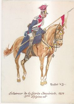 Esploratori 3° Rgt. 1814 Empire, French Army, Napoleonic Wars, Ancient Civilizations, Illustrations And Posters, Troops, Military, Hero, Horses