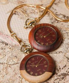 Pocket Watches and Women's wood watch pendants! Wooden Watch, Pocket Watches, Pendants, Brooch, Accessories, Wooden Clock, Pocket Watch, Pendant, Ornament