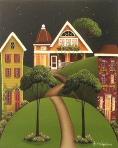 rose hill lane, catherine holman folk art