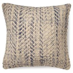 Check out this item at One Kings Lane! Chevron 20x20 Wool-Blended Pillow, Beige