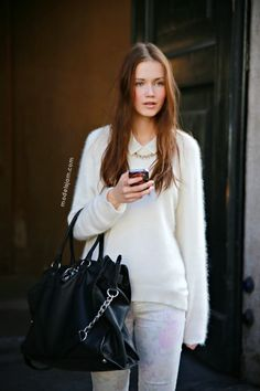Hanna Koczewska after Blugirl, Milano, February 2013 (Models Jam) Tomboy Chic, Model Street Style, Angora, Models Off Duty, Fall Looks, Beachwear, Swimwear, Outfit Of The Day, Street Wear
