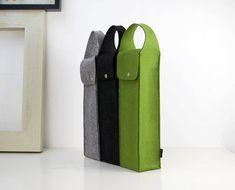 Felt Handle Single Wine Carrying Bag Holder Wine by Filzkraft