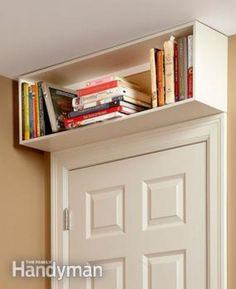 Nice idea for over the door bookcase for more storage space in a small room @istandarddesign