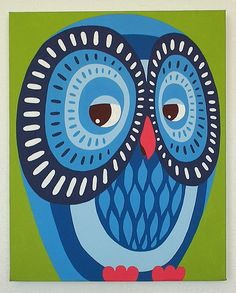 blue owl by Casper James