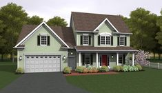 Colonial House Plan with 2223 Square Feet and 3 Bedrooms from Dream Home Source | House Plan Code DHSW076671